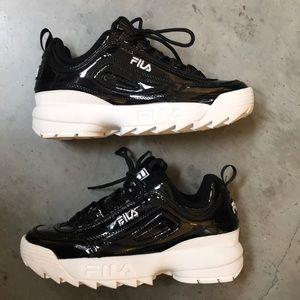 Fila Shoes - Fila Disruptor Black Patent